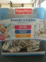 Fisher-Price Sounds' n Lights Monitor Built in Night Light Portable Receiver New