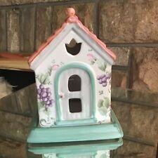 Pfaltzgraff Grapevine Pierced Lighting Tea and Candle Light House Rabbit