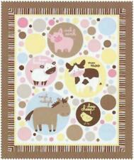 Animal Talk Pre-quilted Double Faced Baby Quilt Panel