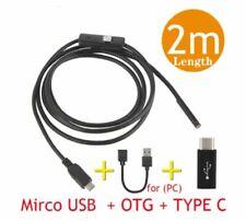 Endoscopio Usb Flexible 2M Sumergible Cámara 7mm 6 LED Para Android PC Portátil