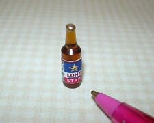 Miniature Beer Bottle #4 (Brown w/Star) for DOLLHOUSE, 1/12 Scale Miniatures