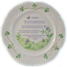 Belleek Classic Harp Mothers Blessing Plate (3381)