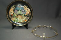 Russian Legends Collectors Plate The Fisherman & Magic Fish with Wall Holder