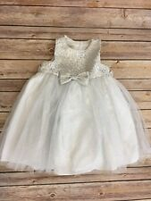 Infant Baby Girl 18 - 24 Month Fancy Dress White And Silver Weddings Holidays