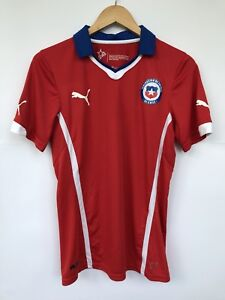 CHILE 2014 PUMA HOME FOOTBALL SOCCER SHIRT JERSEY CAMISETA WORLD CUP RED