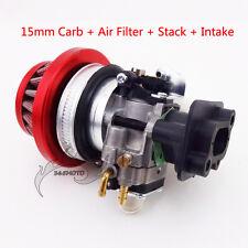 Carburetor Air Filter Stack Intake For 2 Stroke 47 49cc Pocket Bike ATV Minimoto