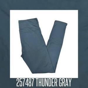 Tween Lularoe Leggings Solid Thunder Gray hint blue tint 257487