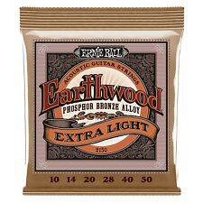 ERNIE Ball Earthwood Phosphor Bronze Extra Light ACUSTICA CHITARRA corde 10-50