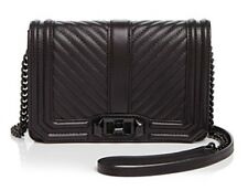 NWT $195 Rebecca Minkoff Small Love Chevron Quilted Leather Crossbody Bag!