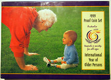 1999 Aust. Proof Coin Set  - International Year of Older Persons - Cat. V. $180