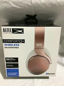 Altec Lansing Comfort Q+ Wireless Active Noise Cancelling Headphones Rose Gold