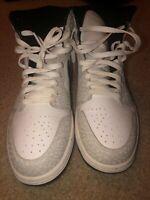 Size 11 - Jordan 1 Retro High White/Black elephant print good condition