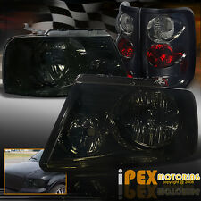 New For 2004-2008 Ford F150 F-150 BlackOut Smoke Headlights + Smoke Tail Lights