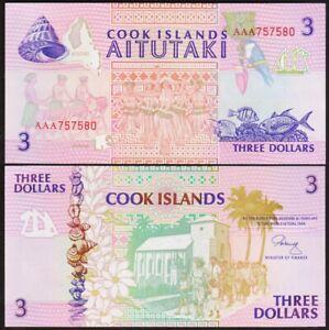 3 DOLLARS 1992 ILES COOK / COOK ISLANDS [NEUF / UNC] P7