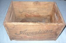 Antique Wooden Beer Crate marked  American Brewing Co. Rochester