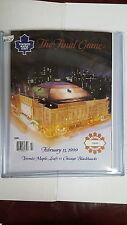 THE FINAL GAME MAPLE LEAF GARDENS February13-99 Maple LeafsVSChicago Blackhawks
