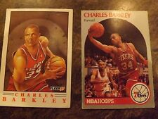 Set of 2 Different Charles Barkley Basketball Cards 1990-91 Fleer/NBA Hoops
