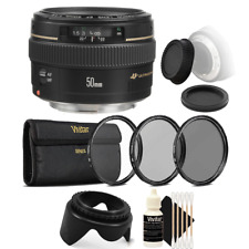 Canon EF 50mm f/1.4 USM Lens + UV CPL Filter Kit for Canon T6i T6 T6S