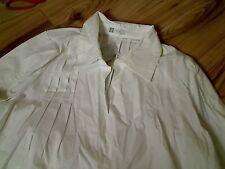 NUOVO PRENATAL maternità Camicia Di Cotone Bianco Taglia Large