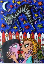 "James Rizzi  ""That's Amore "" 1989 Hand Signed 3-D 29/175 Serigraph Pop Art"