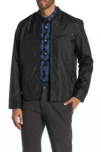 John Varvatos Star USA Men's Black Lightweight Bomber Jacket $298