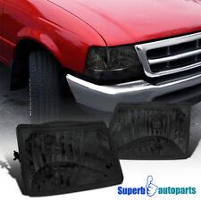 1998-2000 Ford Ranger Diamond Head Lights Lamps Smoke