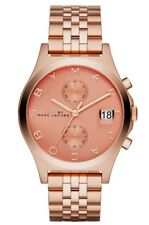 Marc Jacobs Fergus Chronograph Rose Gold Tone Stainless Women's Watch MBM3384 SD