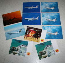 lot 10 vintage airline postcards Iberia Espana JAL DC10 B767 Lufthansa A300 B747