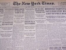 1938 JANUARY 26 NEW YORK TIMES - BARCELONA TOLL 44 IN DAY OF BOMBINGS - NT 2419