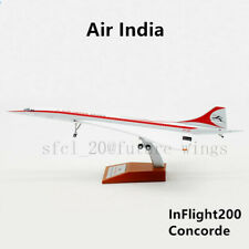 (Rare)1:200 InFlight200 Air India Concorde VT-SST With Stand IFCONC1017