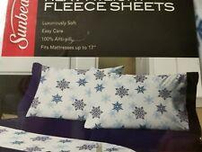 Sunbeam Super Soft Heavyweight Fleece Sheet Set, Twin