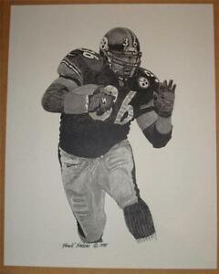 """Jerome Bettis """"The Bus""""- Pittsburgh Steelers Running Back Legend - 11 x 14 print"""