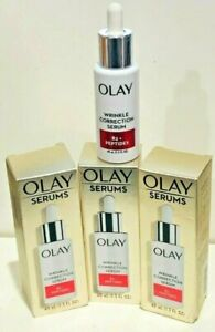 Olay Wrinkle Correction Serum with Vitamin B3+ Collagen Peptides 1.3 oz 3 PACK