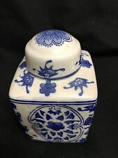 Vintage Toll Mache small lided jar, signed