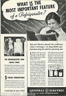 1935 General Electric advertisement, early MONITOR-TOP refrigerator photo