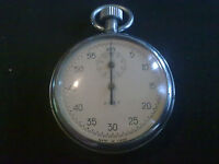 VINTAGE STOP WATCH made in USSR SOVIET POCKET STOP WATCH
