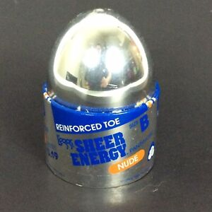 Leggs Sheer Energy Pantyhose Size B Nude Beige Egg Reinforced Toe USA