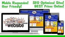 NEW, FAST, RESPONSIVE WEBSITE WEB DESIGN FREE HOSTING FREE DOMAIN any business!