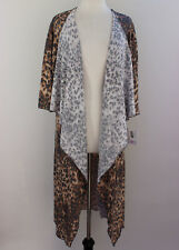 Large LuLaRoe Shirley Kimono Soft Knit Brown Cheetah Leopard Animal NWT 179