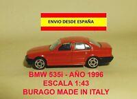 BMW 535i ESCALA 1:43 BURAGO ITALY AÑO 1996 MINIATURAS COCHES MAQUETAS DIORAMAS