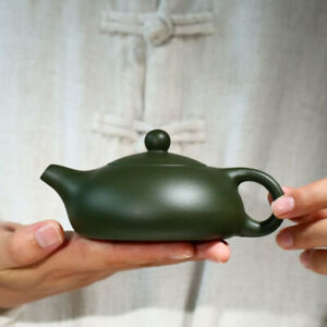 on big sales real yixing zisha republic green clay flat xishi tea pot marked new