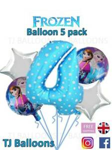 Frozen 4th Birthday balloon 5 pack Celebration Decoration Party