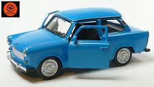 Trabi-Jubiläum 2014: 50 Jahre Trabant 601 Modellauto 11cm WELLY Sonderfarbe blau