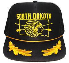South Dakota Indain Native Captain Leaf Snapback Mesh Trucker Hat Cap