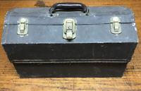 Vintage Kennedy Kits Fishing Tackle Box - 4 Tray Cantilevered Tool Box