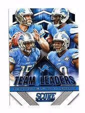 2015 score, Lions, team leaders, Matthew Stafford, football card!!!