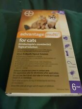 Advantage for cats Flea Worms Small 9-18 lbs 6 Pack 6 Month Supply New