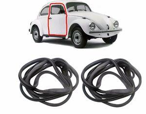 VW Beetle Bug PAIR Door Seal T1 Rubber Gasket 1947-66 Inner Full Complete Early
