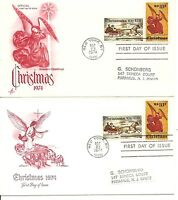 SC #1550-1551 Christmas1974 (Currier & Ives, Religious)Artmaster,Artcraft Cachet