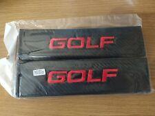 Seat belt pads golf logo black carbon look pads  vw